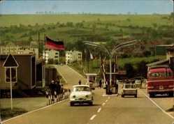 Postcard Schweigen Rechtenberg, Deutsch Französische Grenze, Grenzübergang