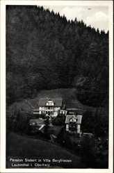 Postcard Bergstadt Lautenthal Langelsheim am Harz, Pension Siebert, Villa Bergfrieden