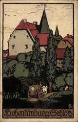 Steindruck Ak Hohenlimburg Hagen in Westfalen Ruhrgebiet, Blick auf das Schloss