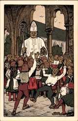 Steindruck Ak Halberstadt in Sachsen Anhalt, Bischof Buko von Halberstadt