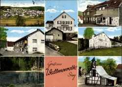 Postcard Walmenroth Sieg, Kaufhaus Zimmermann, Geschäft