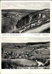 Postcard Sellerich Schneifel Rheinland Pfalz, Westgrenze, Totalansicht der Ortschaft