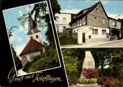 Postcard Twieflingen Niedersachsen, Denkmal, Kirche, Gaststätte Robert Höltje