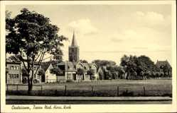 Postcard Castricum Nordholland Niederlande, Toren ned. Herv. Kerk, Kirche