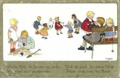 Künstler Ak Ebner, Pauli, Kinder spielen Blinde Kuh