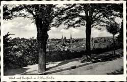 Postcard Neustadt an der Weinstraße, Blick auf den Ort, Straße, Kirchturm
