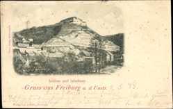 Postcard Freyburg an der Unstrut, Blick auf das Schloss und Jahnhaus, Berg