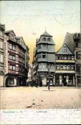 Postcard Frankfurt am Main, Partie am Luthereck, Heinrich Kaufmann, H. Lang