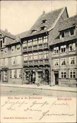 Postcard Wernigerode Harz, Blick auf ein Altes Haus an der Breitestraße