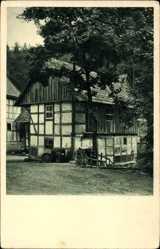 Postcard Hohegeiß Braunlage im Oberharz, Blick auf die Wolfbachsmühle