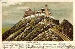 Litho Schlesien, Riesengebirge, Schneekoppenbaude, Schronisko Na Sniezce, Winter