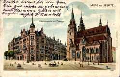 Litho Legnica Liegnitz Schlesien, Friedrichsplatz mit Passage