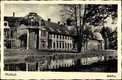 Postcard Milicz Militsch Schlesien, Ansicht vom Schloss, Wasserseite