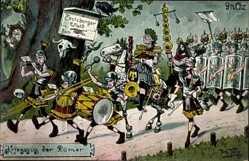 Künstler Ak Arthur Thiele, Kriegszug der Römer, Teutoburger Wald, 9 nach Chr.