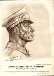 Künstler Ak Willrich, Generalfeldmarschall Johannes Erwin Eugen Rommel