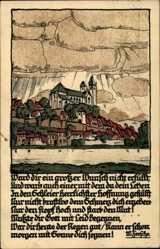 Steindruck Ak Ward dir ein großer Wunsch, Gedicht M. Feesche