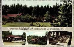 Postcard Süssenweiher Speinshart Oberpfalz, Gasthaus Waldeslust, Hans Meyer