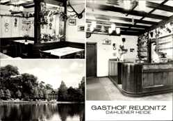 Postcard Reudnitz Cavertitz, Gasthof am See, Innenansicht, Bartheke