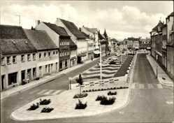 Ak Oschatz in Nordsachsen, Blick auf den Ernst Thälmann Platz