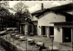 Ak Grimma in Sachsen, HO Gaststätte Gattersburg, Terrassen
