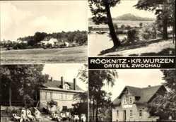 Ak Zwochau Röcknitz Wiedemar, Blick zum Gadlitzberg, Waldschänke Liegewiese