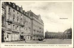Postcard Frankfurt am Main,Hotel zu den Vier Jahreszeiten,Hauptbahnhof,Scharnhorststr.
