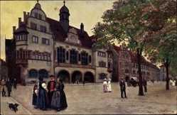 Künstler Ak Hoffmann, H., Freiburg im Breisgau, Das alte und neue Rathaus