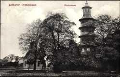 Postcard Oranienbaum Wörlitz im Kreis Wittenberg, Partie am Glockenturm