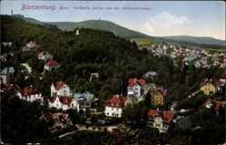 Postcard Blankenburg am Harz, Walhalla, Blick von der Schlossterrasse