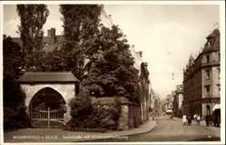 Postcard Weißenfels an der Saale im Burgenlandkreis, Saalestraße mit Klostereingang