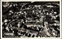 Postcard Bad Frankenhausen im Kyffhäuserkreis, Totalansicht, Fliegeraufnahme