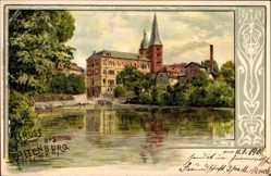 Künstler Litho Spindler, Altenburg in Thüringen, Blick zur Kirche