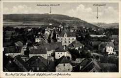 Postcard Auerbach in der Oberpfalz, Bahnhofviertel mit Gottvaterberg