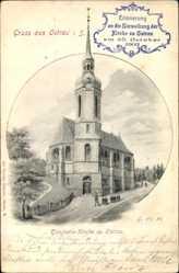 Postcard Ostrau Bad Schandau in Sachsen, Einweihung der Kirche 25. Oktober 1903