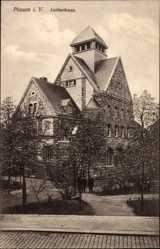 Postcard Plauen im Vogtland, Blick von außen auf das Lutherhaus