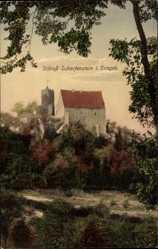 Postcard Scharfenstein Drebach im Erzgebirge, Blick auf das Schloss
