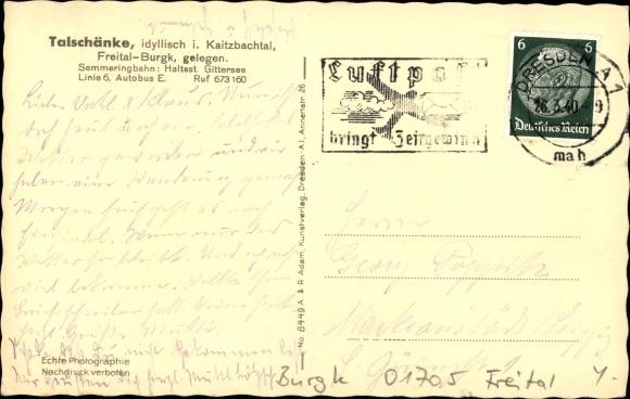 Ansichtskarte / Postkarte Burgk Freital in Sachsen, Blick | akpool.de