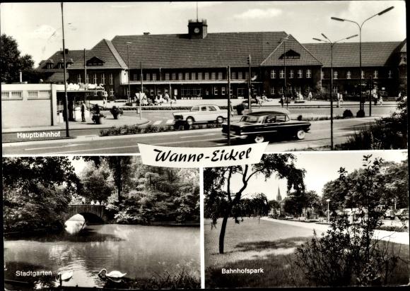 Ansichtskarte postkarte wanne eickel herne hauptbahnhof - Stadtgarten hamburg ...