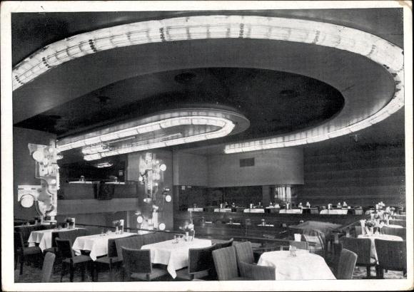 postcard berlin charlottenburg haus germania caf. Black Bedroom Furniture Sets. Home Design Ideas
