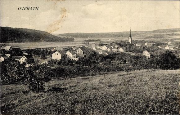 postcard overath in nordrhein westfalen panorama von. Black Bedroom Furniture Sets. Home Design Ideas