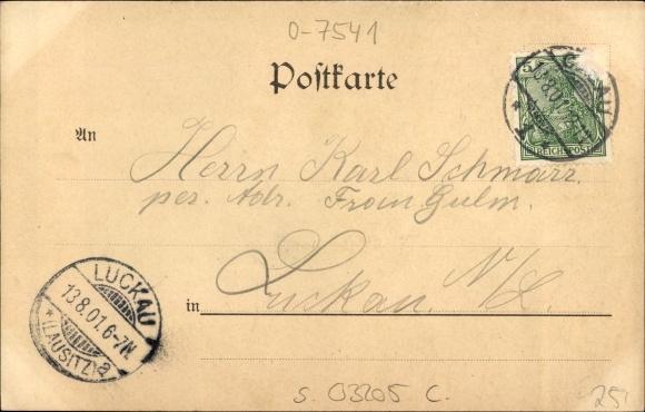 Ansichtskarte Postkarte Sassleben Calau In Brandenburg