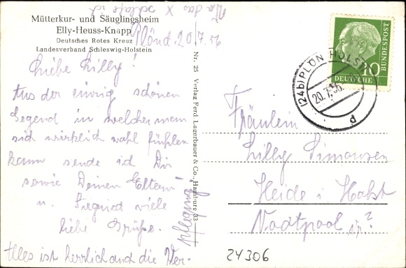 Ansichtskarte Postkarte Plön in Schleswig Holstein Elly