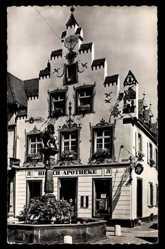Postcard Offenburg, Pharmacie du Cerf, Hirsch Apotheke