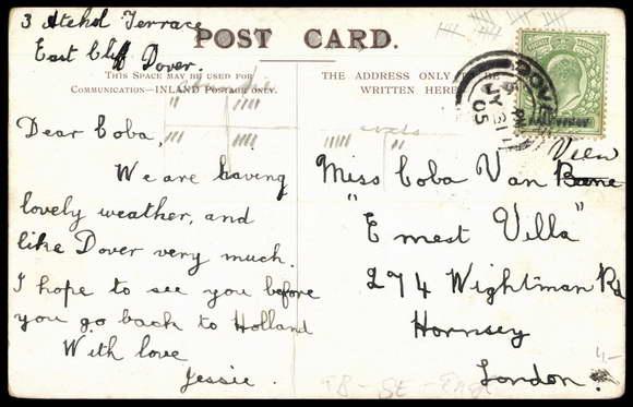 Backside Postcard Dover South East England, Commercial Harbours,Hafen