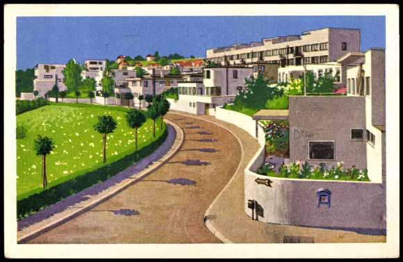 Postcard stuttgart wei enhofsiedlung bauhaus stra e - Bauhaus baden baden ...