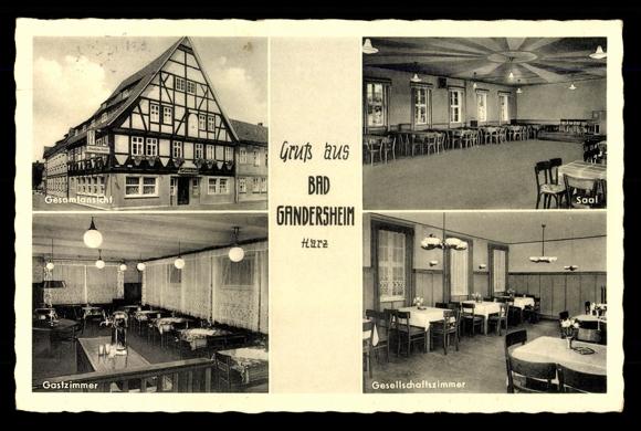 ansichtskarte postkarte bad gandersheim blick auf pension r mischer kaiser. Black Bedroom Furniture Sets. Home Design Ideas