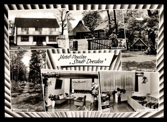 ansichtskarte postkarte neuenburg zetel hotel pension stadt dresden. Black Bedroom Furniture Sets. Home Design Ideas