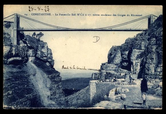 Ansichtskarte postkarte constantine algerien la for Piscine sidi m cid constantine