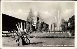 Postcard Bad Salzuflen, Partie am Grenadierwerk,Springbrunnen