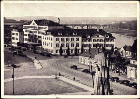Ansichtskarte postkarte dresden altstadt hotel bellevue for Dresden altstadt hotel